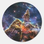 NASAs Carina Nebula Classic Round Sticker