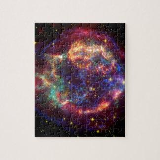 NASAs Cassiopeaia supernova Jigsaw Puzzle