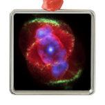 NASAs  Cat's Eye Nebula Christmas Ornament