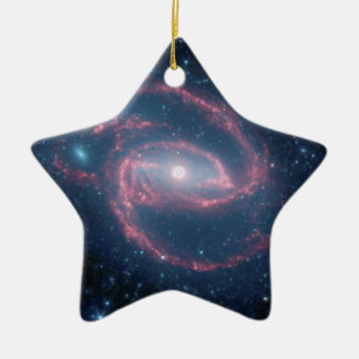 NASAs Coiled Creature of the Night Double-Sided Star Ceramic Christmas Ornament