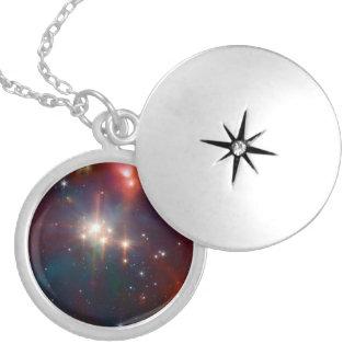 NASAs Coronet Cluster Round Locket Necklace