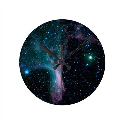 NASAs Cosmic Dancer Round Wall Clocks