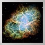 NASAs Crab Nebula Poster