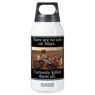 NASA's Curiosity Rover & No Cats On Mars Insulated Water Bottle