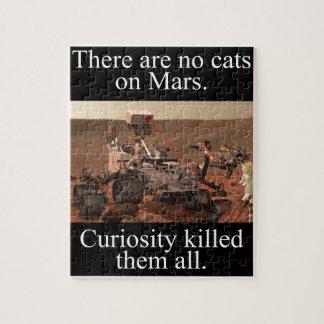 NASA's Curiosity Rover & No Cats On Mars Jigsaw Puzzle