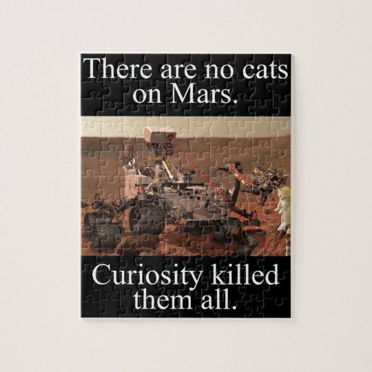 NASA's Curiosity Rover & No Cats On Mars Jigsaw Puzzle