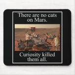NASA's Curiosity Rover & No Cats On Mars Mouse Pad
