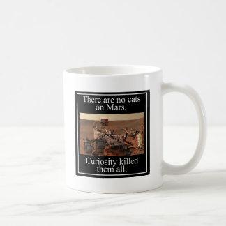 NASA's Curiosity Rover & No Cats On Mars Classic White Coffee Mug