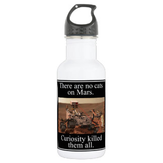 NASA's Curiosity Rover & No Cats On Mars 18oz Water Bottle
