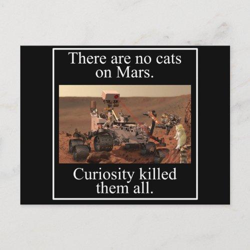 NASAs Curiosity Rover  No Cats On Mars Postcard