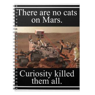 NASA's Curiosity Rover & No Cats On Mars Spiral Notebook