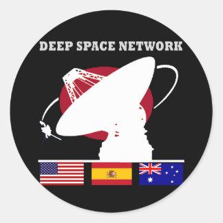 NASA's Deep Space Network Round Stickers