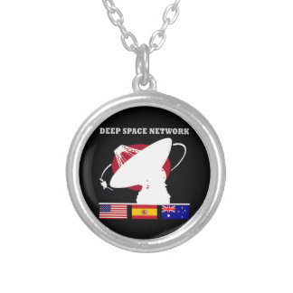 NASA's Deep Space Network Silver Plated Necklace