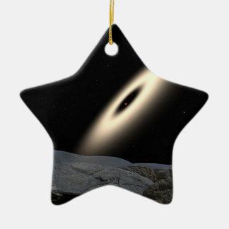 NASAs Disk Around Red Dward Stars Ceramic Ornament