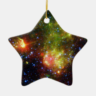 NASAs  Dusty death of a massive star Double-Sided Star Ceramic Christmas Ornament