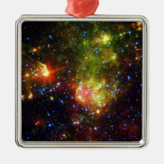 NASAs  Dusty death of a massive star Square Metal Christmas Ornament