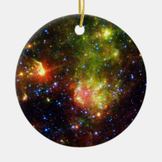 NASAs  Dusty death of a massive star Double-Sided Ceramic Round Christmas Ornament