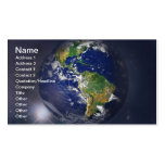 NASAs Earth rising II Business Cards