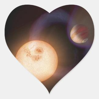 NASAs extrasolar planet Sweeps Heart Sticker