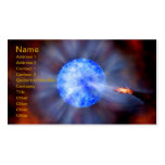 NASAs Galactic Black hole Business Card Template