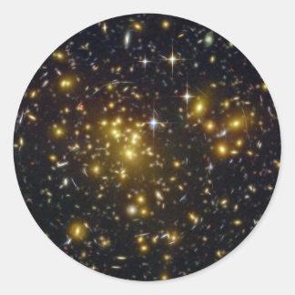 NASAs galaxy Abell Round Stickers
