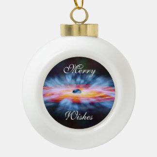 NASAs Galaxy Active nucleus AGN Ceramic Ball Christmas Ornament