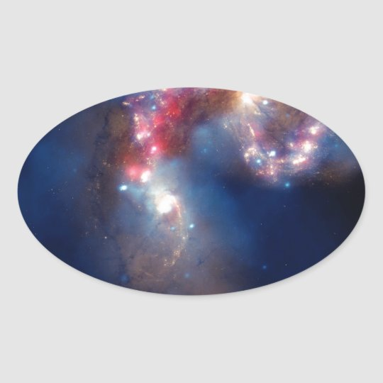 NASA's Great Observatories Witness a Galactic Spec Oval Sticker