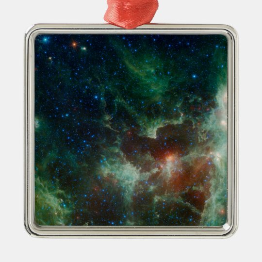 NASAs Heart And Soul Nebula Metal Ornament