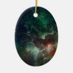 NASAs Heart And Soul Nebula Double-Sided Oval Ceramic Christmas Ornament