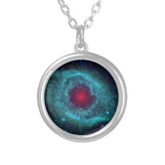 NASAs Helix Nebula Silver Plated Necklace