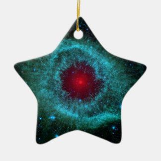 NASAs Helix Nebulae Nasa Double-Sided Star Ceramic Christmas Ornament