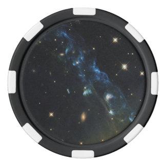 NASA's Hubble Views a Cosmic Skyrocket Poker Chip Set