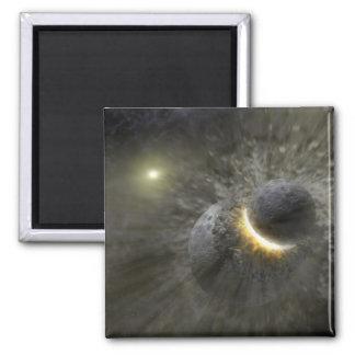 NASAs - Massive Smash-Up at Vega 2 Inch Square Magnet