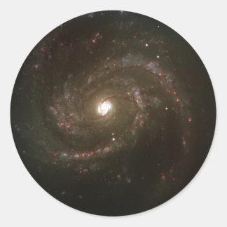 NASAs Messier 100 galaxy Round Stickers