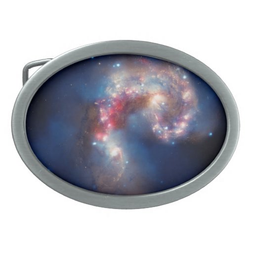 NASAs NGC 4038-4039 Galaxy Oval Belt Buckle
