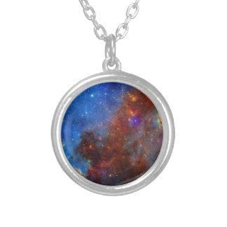 NASAs North American Nebulae Round Pendant Necklace