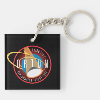 NASA's Orion EFT-1 Flight Official Mission Patch Square Acrylic Keychains