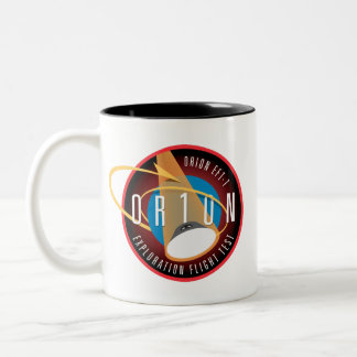 NASA's Orion EFT-1 Flight Official Mission Patch Two-Tone Coffee Mug