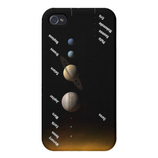 NASAs Planets and dwarf planets iPhone 4 Case