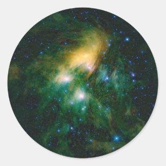 NASAs Pleiades Classic Round Sticker