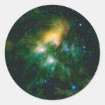 NASAs Pleiades Pegatina Redonda
