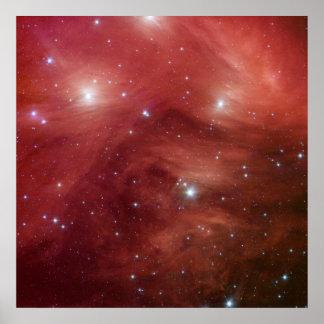NASAs - Pleiades rosado Póster