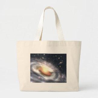 NASAs Quasar Black Hole Large Tote Bag