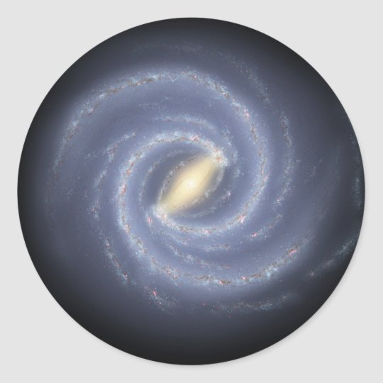 NASA's Road map to the Milky Way Classic Round Sticker
