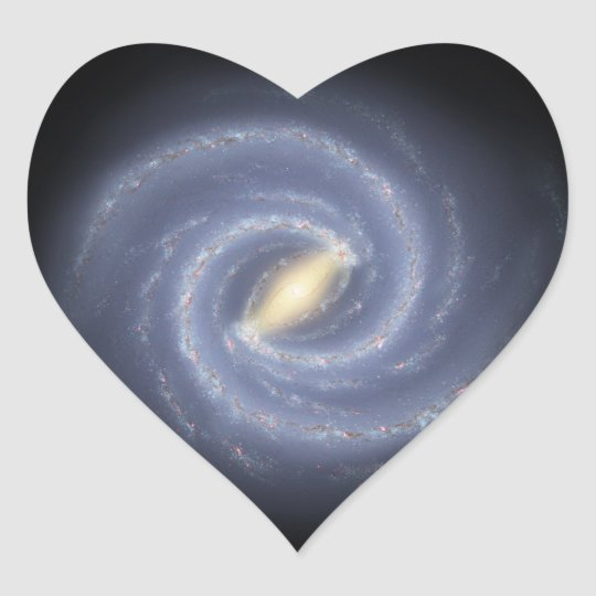 NASA's Road map to the Milky Way Heart Sticker