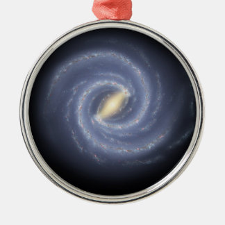 NASA's Road map to the Milky Way Metal Ornament