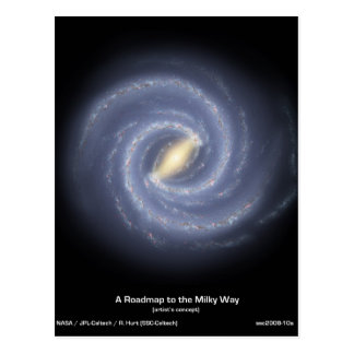NASAs Road map to the Milky Way Postcard