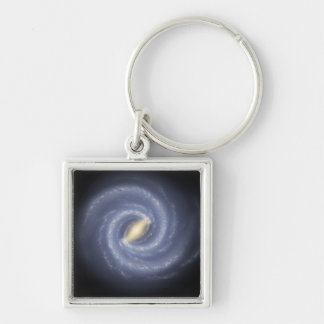 NASA's Road map to the Milky Way Silver-Colored Square Keychain
