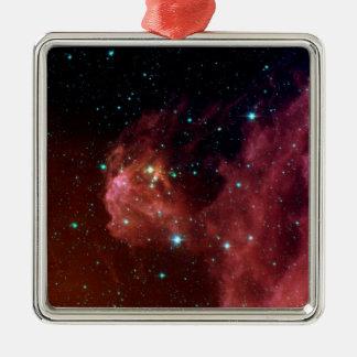NASAs Sig07-006 galaxy Square Metal Christmas Ornament