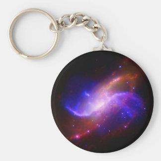 NASAs spiral galaxy M106 Basic Round Button Keychain